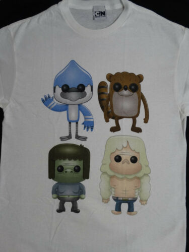 Regular Show Mordecai /& Rigby Cartoon Officially Licensed T-Shirt