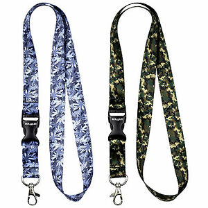 31849dce4508 Details about Pack of 3 Camouflage Lanyard neck strap for id badge holder  with metal clip