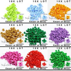 LEGO-10x-Lot-Part-33291-Lavender-Red-Brown-Gold-Green-Pink-Orange-Flower-1x1