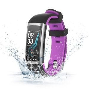 Montre Bracelet Connectée Couleur Intelligente EtancheIP67 Sport Natation Violet