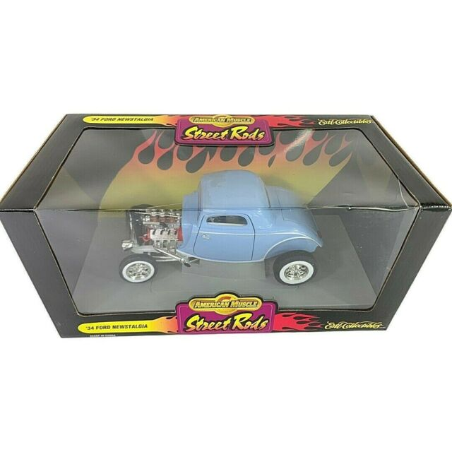 #7277 American Muscle Street Rods Baby Blue '34 Ford Newstalgia Die Cast 1:18