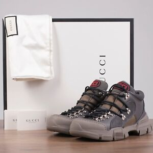 c44aabe132b128 Image is loading GUCCI-x-SEGA-980-Flashtrek-Sneakers-In-Grey-