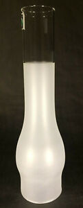 NEW-3-034-X-12-034-Frosted-GLASS-OIL-LAMP-CHIMNEY-for-2-BURNERS-and-3-034-GALLERIES-955