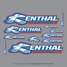 SKU2001 - Renthal Chainwheel Stickers - Set Of 11 Individual Motorcycle Stickers