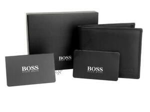New-Authentic-Hugo-Boss-Asolo-Leather-Coin-Pocket-Card-Wallet-Boxed-Tags-Bifold