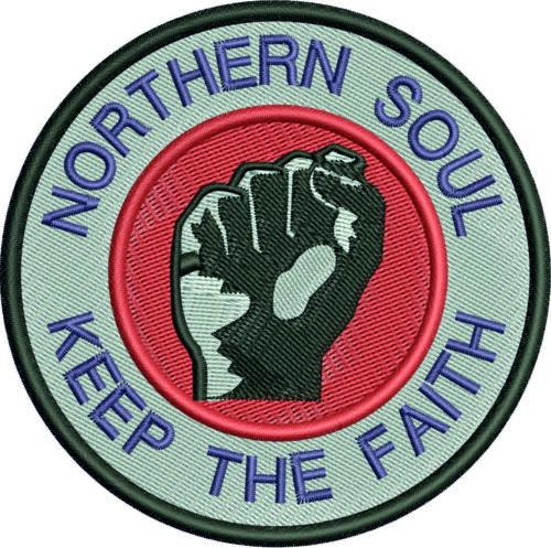 Northern Soul badge adultes Papini Sweat à capuche caché poche pour téléphone tailles XS à 3XL