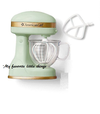 "American Girl gourmet kitchen motion MIXER mixing bowl cup New 18/"" doll"