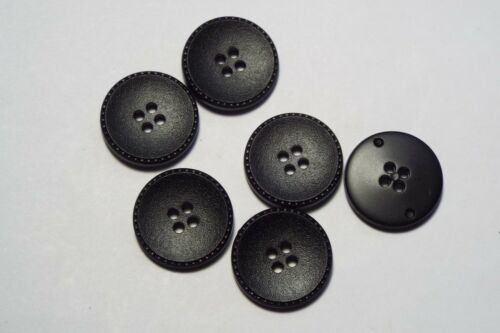 8pc 22mm Negro Imitación Cuero Abrigo Cardigan Pantalón Niño botón 2722