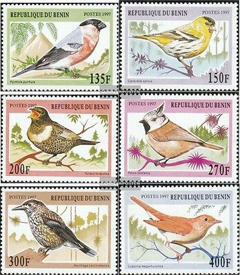 Stamps Benin 957-962 Unmounted Mint Never Hinged 1997 Songbirds Outstanding Features