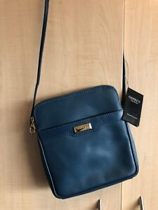 latest selection authorized site official store Details about Osprey London blue leather Lucie Xbody bag