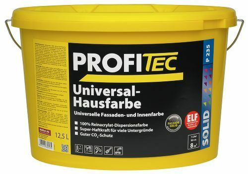 Profitec P 235 Universal Hausfarbe - Fassadenfarbe Weiß 5 Liter hohe Haftkraft