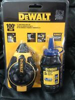 Dewalt 100' 3:1 Gear Chalk Reel Kit-blue Chalk