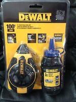 Dewalt 100' 3:1 Gear Chalk Reel Kit-blue Chalk