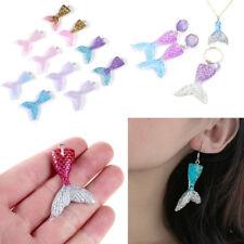 10PCS Mixed Glitter Mermaid Fish Tail Charm Resin Pendant Fit Bracelet//Neckl El