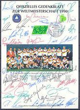 Fußball-WM 1990, Soccer - Deutschland - Beleg mit Unterschriften / Autopen