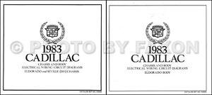 1984 Cadillac Eldorado Diesel Wiring Diagram Color Set Electrical Foldout Oem