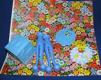 Vtg 1960's Baby Shower Gift Wrap Wrapping Paper W 5 Plastic Table Decorations