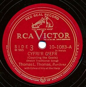 WELSH-THOMAS-L-THOMAS-on-1944-RCA-Victor-10-1083-Cyfri-039-r-Giefr