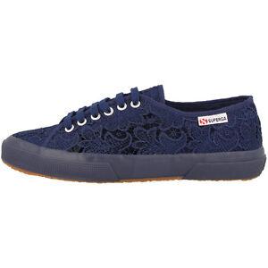 SUPERGA 2750 MACRAMEW scarpe donna Blu Marino S008YA0081 CASUAL SNEAKER moda
