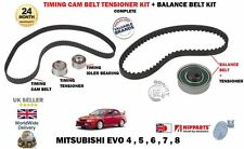 FOR MITSUBISHI EVO 4 5 6 7 8 2.0 TURBO 1996-2005 NEW TIMING BELT TENSIONER KIT