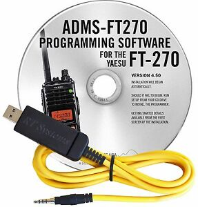 YAESU-ADMS-FT270-USB-SOFTWARE-amp-CABLE-FOR-FT-270