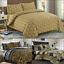 Luxury Gold 100/% Egyptian Cotton Printed Duvet Cover Sets Bedding Sets All Sizes