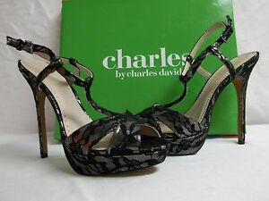 Charles-By-Charles-David-Size-9-5-M-Tangy-Black-Open-Toe-Heels-New-Womens-Shoes