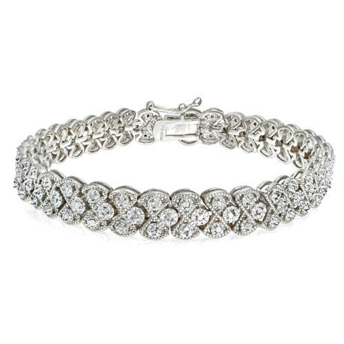 1.00 CTTW Diamond Miracle Set Braided Tennis Bracelet