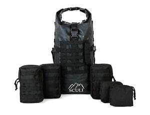 Wasserdichter-Rucksack-mit-MOLLE-NEU-45L-inkl-Zusatztaschen
