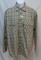 Outback Trading Company Mens Size L Long Sleeve Button Front Shirt