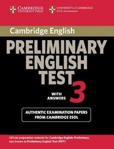 PET Practice Tests: Cambridge Preliminary English Test 3