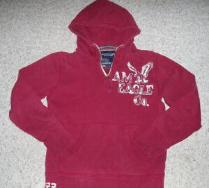 Details about Men\u0027s Boys AMERICAN EAGLE Pullover Hoodie  Sweatshirt~Burgundy/White~Size S/P