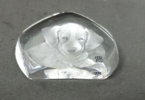 Mats-Jonasson-Crystal-Glass-Dog-Sculpture-Figurine-Paperweight-Made-in-Sweden