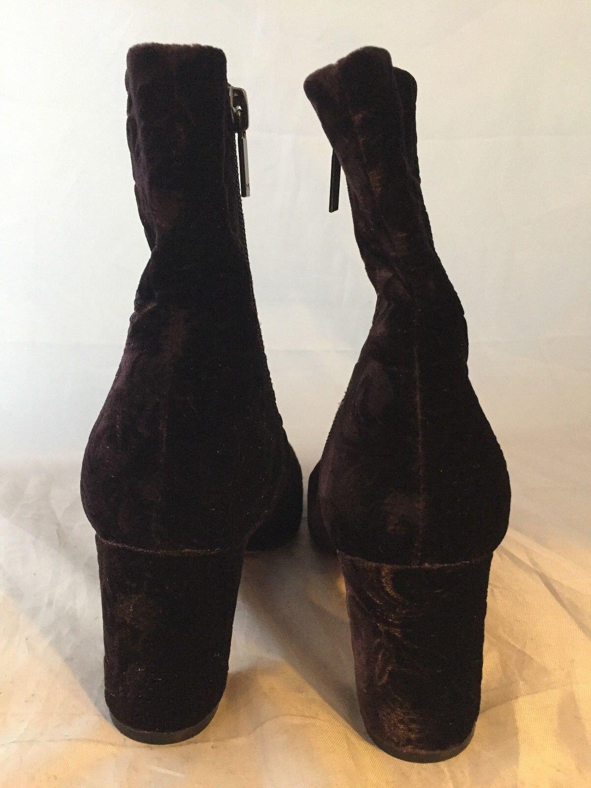 NEU Marc Fisher LTD Grazi Ankle Bootie, Dark Purple Velvet, Damens Größe 5.5, 225