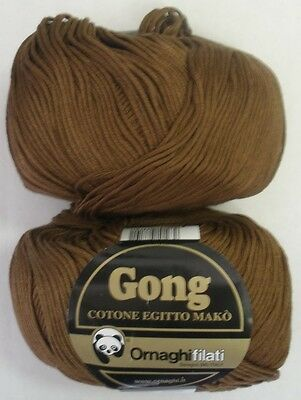 EGYPTIAN MERCERIZED COTTON GONG SPORT WT YARN 50 GR 7A 1 BALL ELECTRIC RED