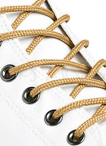 ROUND-WHEAT-GOLD-SHOE-LACES-SHOELACES-3mm-wide-11-LENGTHS-HIGH-QUALITY
