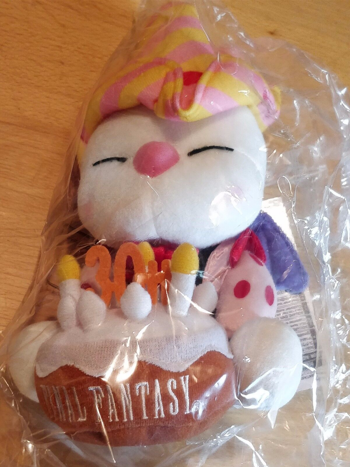 OFFICIAL FINAL FANTASY 30TH ANNIVERSARY MOOGLE PLUSH SOFT TOY - NEW AND SEALED