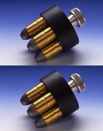 2 HKS 100B Nylon Speed-Loader Case 1 + HKS DS-A Speedloaders 6-shot .357//38