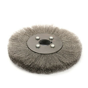 """4/""""~10/"""" Crimped Stainless Steel Wire Wheel Round Brush Abrasive Tool for Grinder"""