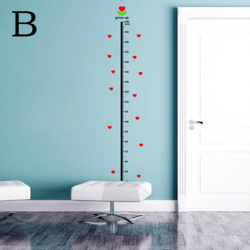 Heart Wall Sticker Baby Growth Chart Under Sea Animal Height Measure Decal  TW