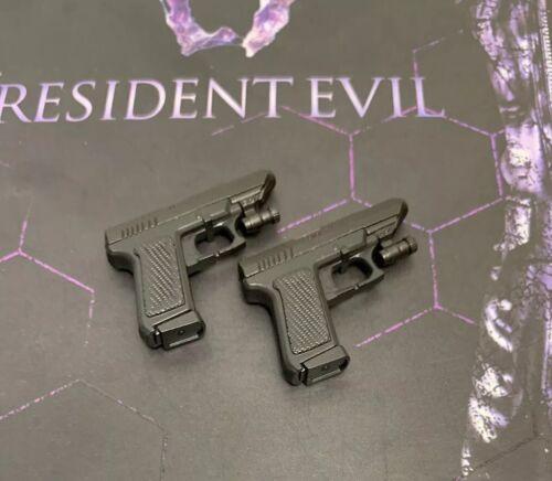 Hot Toys Resident Evil 6 VGM022 LEON S.KENNEDY 1//6 PISTOL x2