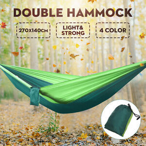 Camping-Hammock-Double-Two-2-Person-Parachute-Tent-Hiking-Travel-Outdoor-Durable