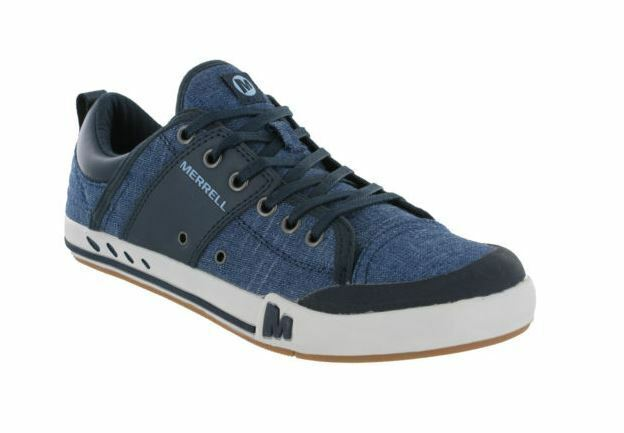 Merrell Rant Lace Canvas Shoes Casual Mens Lightweight Navy Cushioned Trainers