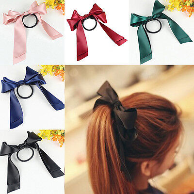 2 pcs Ribbon Rope Bowknot Hair Ties Bow Elastic Hair Band Girl Hair Accessories