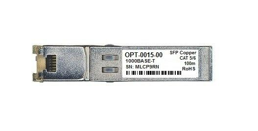 F5 NETWORKS OPT-0015-00 F5UPGSFPC-R 1000BASE-T SFP Copper RJ-45 100m Transceiver