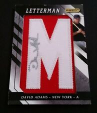 David Adams Yankees 2008 Razor Letterman Certified Authentic Autograph JG3