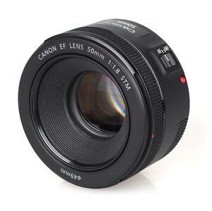 canon ef 50mm f 1 8 stm lens canon 50 mm 1 8 f1 8 stm 13803256871 ebay. Black Bedroom Furniture Sets. Home Design Ideas