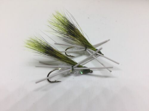 White W//chart Wing 2 Bream Killer Flies hand tied size 10