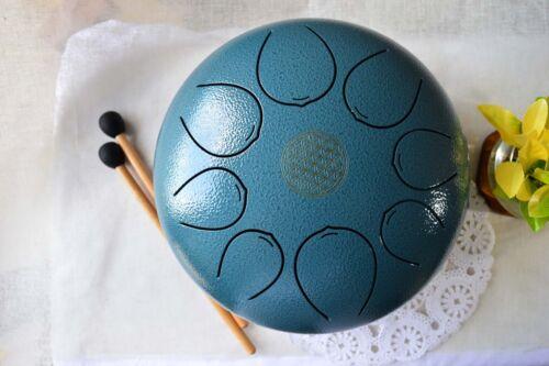 WuYou 10in Steel Tongue Pentatonic Drum Handpan Drum Tank w// carry bag /& mallets