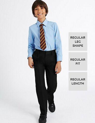 M/&S School Boys/' Pleat Front Trousers NEW! T764620G